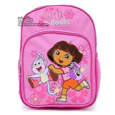 "Dora & Boots the Explorer 16"" School Large Backpack : Run in Flower"