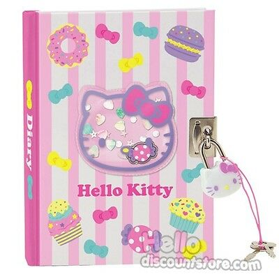 New Sanrio Hello Kitty Locking Diary :Sweet