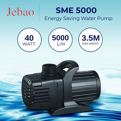 Jebao SME 5000 L/Hour Amphibious Water Feature Pond Pump ONLY 40W Energy Saver
