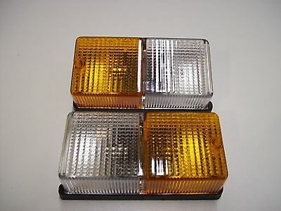 2 x PEREI Front Combination Trailer Lights,Amber/White