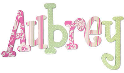 Custom Hand Painted Wood Wooden Name Nursery Wall Letters Hanging Decor 6.5 inch