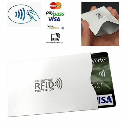 10x RFID Secure Sleeve Credit Card Holder Protector Case Blocking Shield