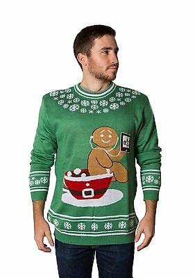56f1be60c7a3 Crazy Holidaze Men s Gingerbread Pottytime Funny Ugly Christmas Sweater
