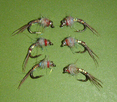 Rojo Midge Nymph #20,#18 or #16 FREE shipping on All Additional Items! 6 Fly