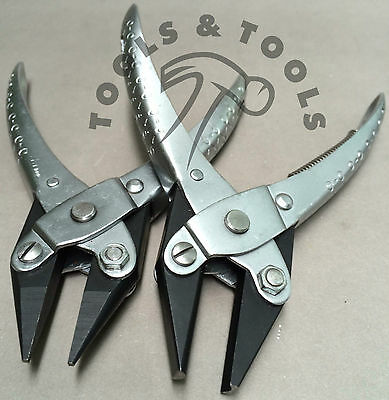 2 Piece Parallel Action Half Round Concave & Chain Nose Pliers Jewelry Crafts