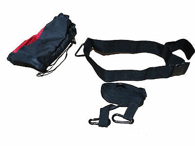"Discounted 2"" Wide Waist Belt With Carrying Bag For Pulling Sled Harness Strap"