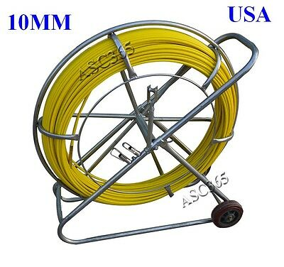 New Fish Tape Fiberglass Wire Cable Running Rod Duct Rodder Puller 10mm