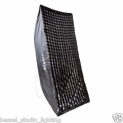 Bessel 140cm x 60cm Softbox with 2 diffusers & 4cm Grid Elinchrom Fit Easy Setup