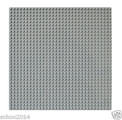 2pc Compatible for Lego gray BasePlate display Brick figure building 32x32 Dot
