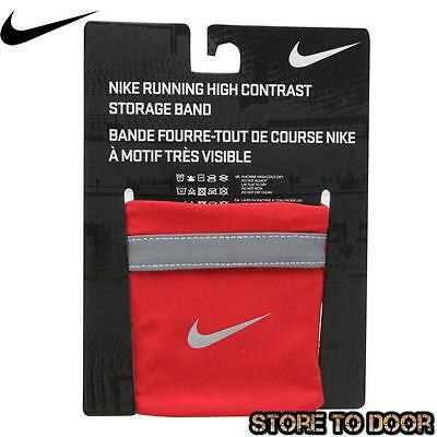 Nike Swoosh Running Dri fit High Contrast Storage Band Red Envelope closure New