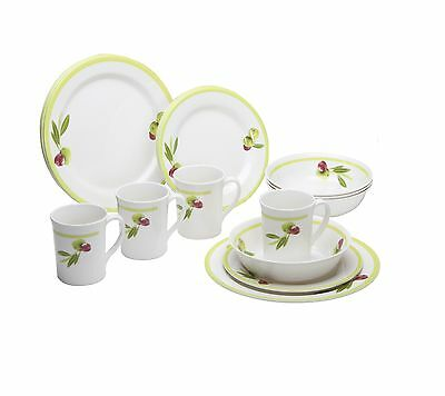 Quest Sorrento Melamine 16 Piece Camping Picnic Tableware Set for 4 People