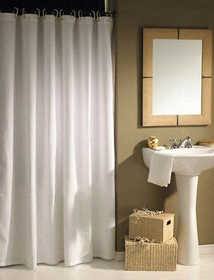 Solid White Shower Curtain 2m Long New Free Shipping