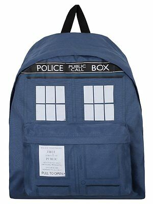 100% Official Doctor Who Tardis Backpack Rucksack School Bag Police Box Dr NEW