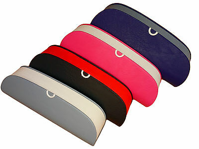 Ladies Black, Blue, Navy & Pink Faux Leather Hard Glasses / Spectacle Case