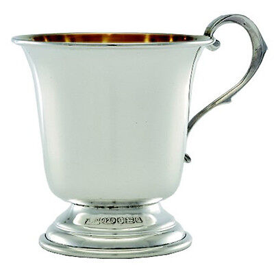 Sterling Silver Christening Cup.  English Made Hallmarked Silver Christening Mug