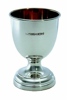 SILVER EGG CUP. HALLMARKED SILVER OLD ENGLISH DESIGN EGG CUP - Christening Gift