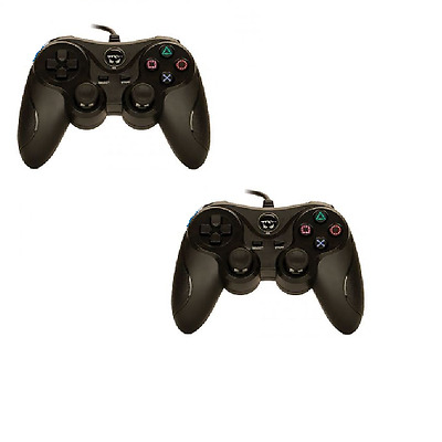 2X PS2 Shock Controller for Sony PlayStation 2 Dual Shock 2 Gamepad New Black