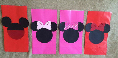 12 Mickey Mouse Or Minnie Birthday Party Favor Bags Can Be Personalized