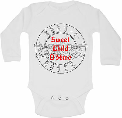 be89a42a76c5 Sweet Child O Mine - Personalized Long Sleeve Baby Vests Bodysuits Unisex  White
