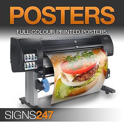 A1 A2 A3 A4 Poster Printing - Full colour LAMINATED WATERPROOF POSTER - 50% OFF