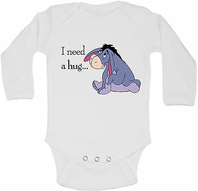 Yesterday Is History Winnie The Pooh Quotation Personalised Baby Vest Bodysuit
