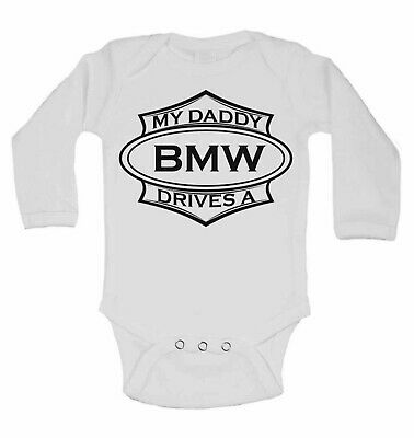 My Daddy Drives A Landrover Personalized Long Sleeve Baby Vests Bodysuits Unisex