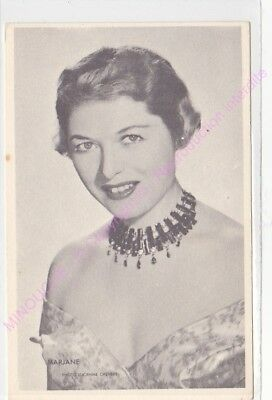 CPSM RPPC STAR MARJANE PHOTO LUCIENNE CHEVERT Offert par ROYAL CHEWING GUM