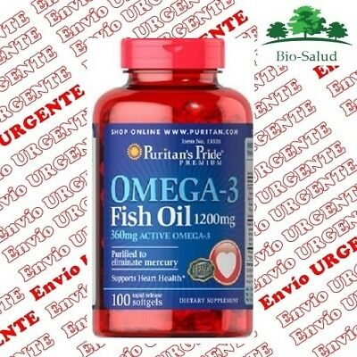 BPR002- OMEGA-3 1200mg/100cps. Envio24h. SALUD CARDIOVASCULAR Puritans