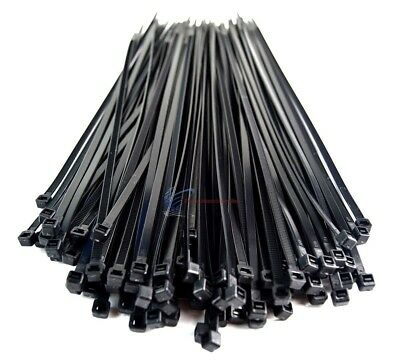 500 Pack 11 Inch Cable Tie Heavy Duty Nylon Strap Self Lock Tensile Car Home Use