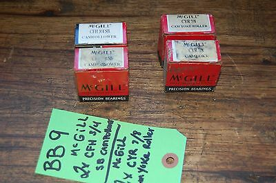 Box of 10 McGill CCYR 3//4S  Crowned Yoke Rollers CCYR-3//4-S NEW *