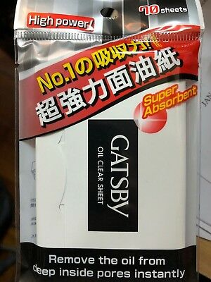 2 x Gatsby Oil Clear Sheet High power, super absorbent (Black Film) 70 sheets
