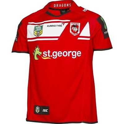 St George Illawarra Dragons NRL Away Jersey 'Select Size' S-3XL BNWT5