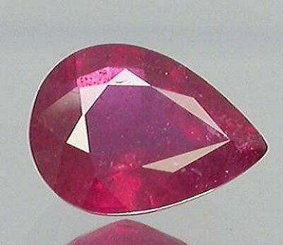 Lab Created Synthetic Ruby With Visible Inclusions Pear Loose Stone (6x4-25x18)