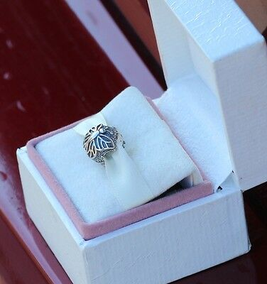Authentic Pandora Sterling Silver Lacewing Butterfly Clips (2) 791256 *SPECIAL*