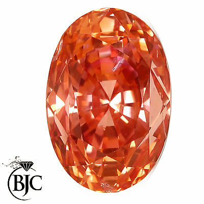 BJC® Loose Natural Padparadscha Sapphire Modern Oval Cut Multiple Natural