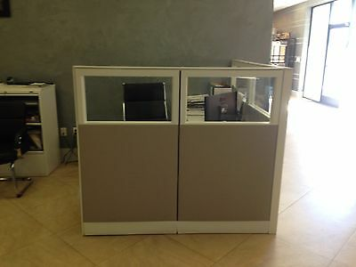 "Office Cubicle with desk furniture 63""x 74.5"""