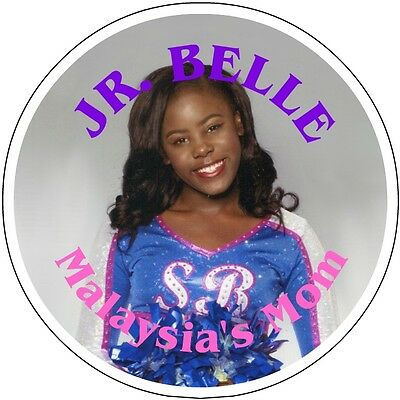 """CUSTOM PHOTO *BIRTHDAY* or other occasion PIN-BACK *BUTTON* LARGE  3.5"""" DIAMETER"""