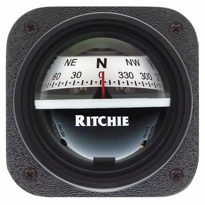 NEW Ritchie V-527 Kayak Compass - Bulkhead Mount - White Dial