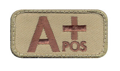 """Blood Type Patch A Positive (+) Blood Type Patch w/ Hook Back - Measures 2"""" X 1"""""""