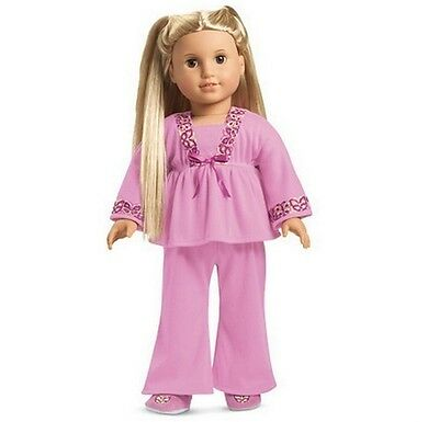 American Girl Julie's PAJAMAS retired pjs slippers F6330 NO DOLL