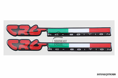 2 x CRG constructors racing group decal sticker gel for motorbike racing motor