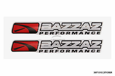 2x BAZZAZ performance decal sticker quality domed gel for motorbike racing motor
