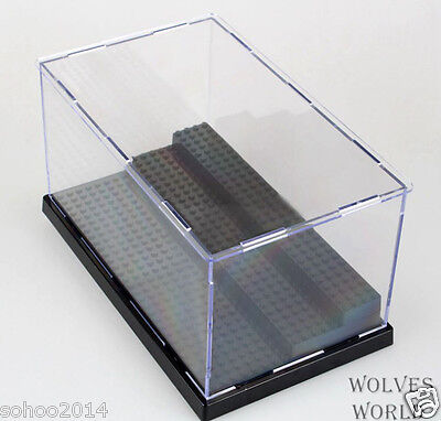 x1 Black BOX for LEGO toys display Case minifigure 3 deck collector assemble box