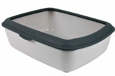 Trixie Classic Litter Tray With Rim Light Grey/Dark Grey TX40312