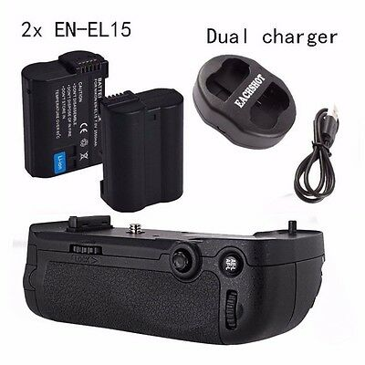 AU Meike Battery Grip for Nikon D800 D810 as MB-D12 + 2*EN-EL15 + Dual Charger