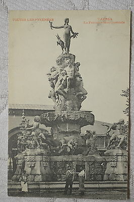 """CPA """" TARBES - La Fontaine Monumentale"""