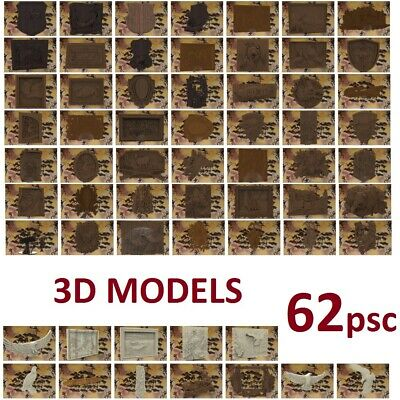 62pcs CNC 3D model engraving relief in STL carving №308 hunting fishing souvenir
