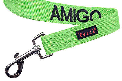 Pet Dog Leash Spanish Color Coded Green AMIGO Alert Assistance Safe Warning New