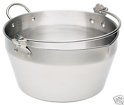 Kitchen Craft Large Maslin Jam Preserving Pan Stainless Steel Induction 9 Litres