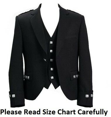 "New Argyle Kilt Jacket With Waistcoat/Vest - Sizes 36""- 54"""